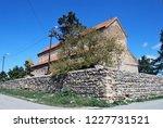 the urbnisi monastery in georgia | Shutterstock . vector #1227731521