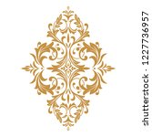damask graphic ornament. floral ... | Shutterstock .eps vector #1227736957