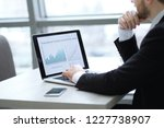 businessman working with... | Shutterstock . vector #1227738907