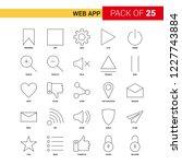 web app black line icon   25...