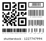 barcodes set on isolated... | Shutterstock .eps vector #1227747994