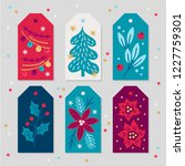 christmas gift tags with... | Shutterstock .eps vector #1227759301