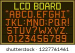 lcd board font   retro lcd...   Shutterstock .eps vector #1227761461