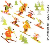 winter background with bears | Shutterstock .eps vector #122776159