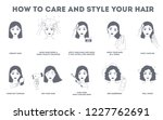 how to care for your hair and... | Shutterstock .eps vector #1227762691