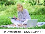 freelance career concept. guide ... | Shutterstock . vector #1227763444