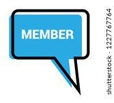 member sign label. member... | Shutterstock .eps vector #1227767764