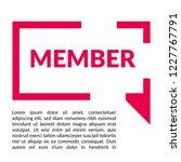 member sign label. member... | Shutterstock .eps vector #1227767791