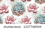 hand drawn vector abstract ink... | Shutterstock .eps vector #1227768544