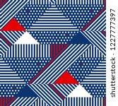 blue and white stripes modern... | Shutterstock .eps vector #1227777397