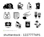 zero waste and sorting icons set | Shutterstock .eps vector #1227777691