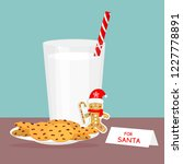 a set of glass of milk and... | Shutterstock .eps vector #1227778891