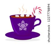 hot chocolate cup with... | Shutterstock .eps vector #1227778894