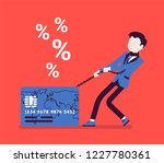 credit card  male cardholder... | Shutterstock .eps vector #1227780361
