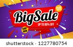 big sale banner template red | Shutterstock .eps vector #1227780754
