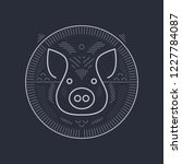 pig symbol design   line art...   Shutterstock .eps vector #1227784087