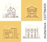 urban architecture   set of... | Shutterstock .eps vector #1227786424