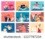 collection of young men and... | Shutterstock .eps vector #1227787234