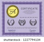 violet diploma template or...   Shutterstock .eps vector #1227794134