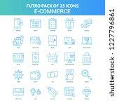25 green and blue futuro e... | Shutterstock .eps vector #1227796861