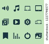 music icons set with tablet ... | Shutterstock .eps vector #1227798577