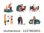 collection of cute people... | Shutterstock .eps vector #1227802831