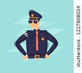 policeman. flat design vector...   Shutterstock .eps vector #1227808024