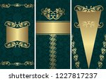 set of templates for cards and... | Shutterstock .eps vector #1227817237
