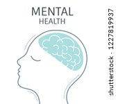 mental health and a healthy... | Shutterstock .eps vector #1227819937