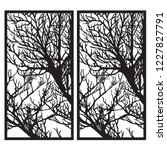 tree silhouette decorative... | Shutterstock .eps vector #1227827791