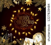 merry christmas greeting card...   Shutterstock .eps vector #1227828484