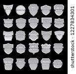 set of vector metal vintagel... | Shutterstock .eps vector #1227834301