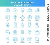 25 green and blue futuro... | Shutterstock .eps vector #1227843931