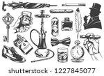 vintage gentleman elements set... | Shutterstock .eps vector #1227845077