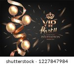 vip invitation card with... | Shutterstock .eps vector #1227847984