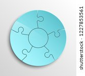 puzzle five piece business... | Shutterstock . vector #1227853561