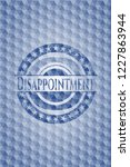 disappointment blue polygonal... | Shutterstock .eps vector #1227863944