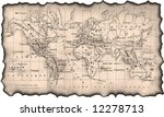 ancient map of the world. the... | Shutterstock . vector #12278713