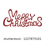 merry christmas red text on... | Shutterstock .eps vector #1227875101