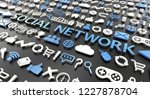 """social network"" word with 3d... 