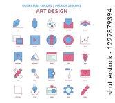art design icon dusky flat... | Shutterstock .eps vector #1227879394
