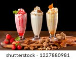 Three Sweet Milkshakes With...
