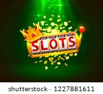 king slots 777 banner casino on ... | Shutterstock .eps vector #1227881611
