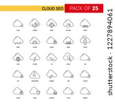 cloud seo black line icon   25... | Shutterstock .eps vector #1227894061