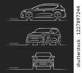 set of vector car silhouettes ... | Shutterstock .eps vector #1227897244