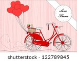bicycle with heart shape...