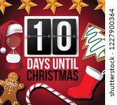 countdown to christmas flip...   Shutterstock .eps vector #1227900364