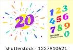 colored cartoon numbers. vector ... | Shutterstock .eps vector #1227910621