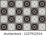 talavera pattern. indian... | Shutterstock .eps vector #1227912514
