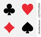 set of playing card symbols | Shutterstock .eps vector #1227913504